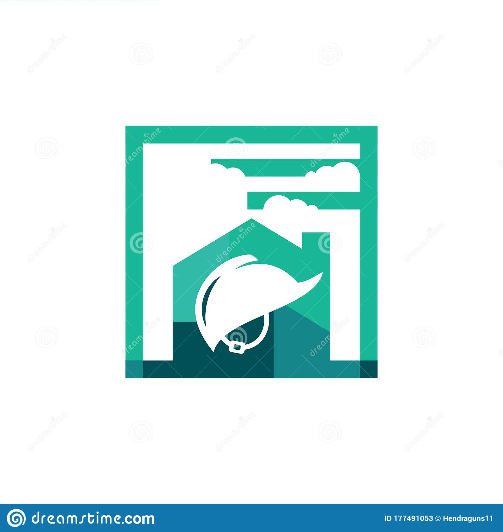 Home Construction Logo Design. Safety Helmet Building Work ...