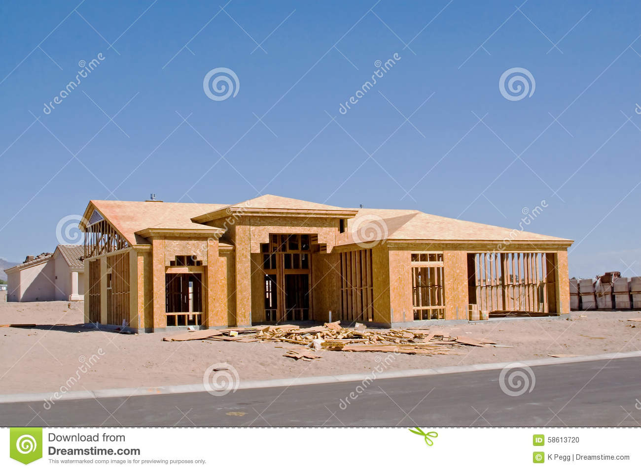 Home construction stock image 1686409 for House building website