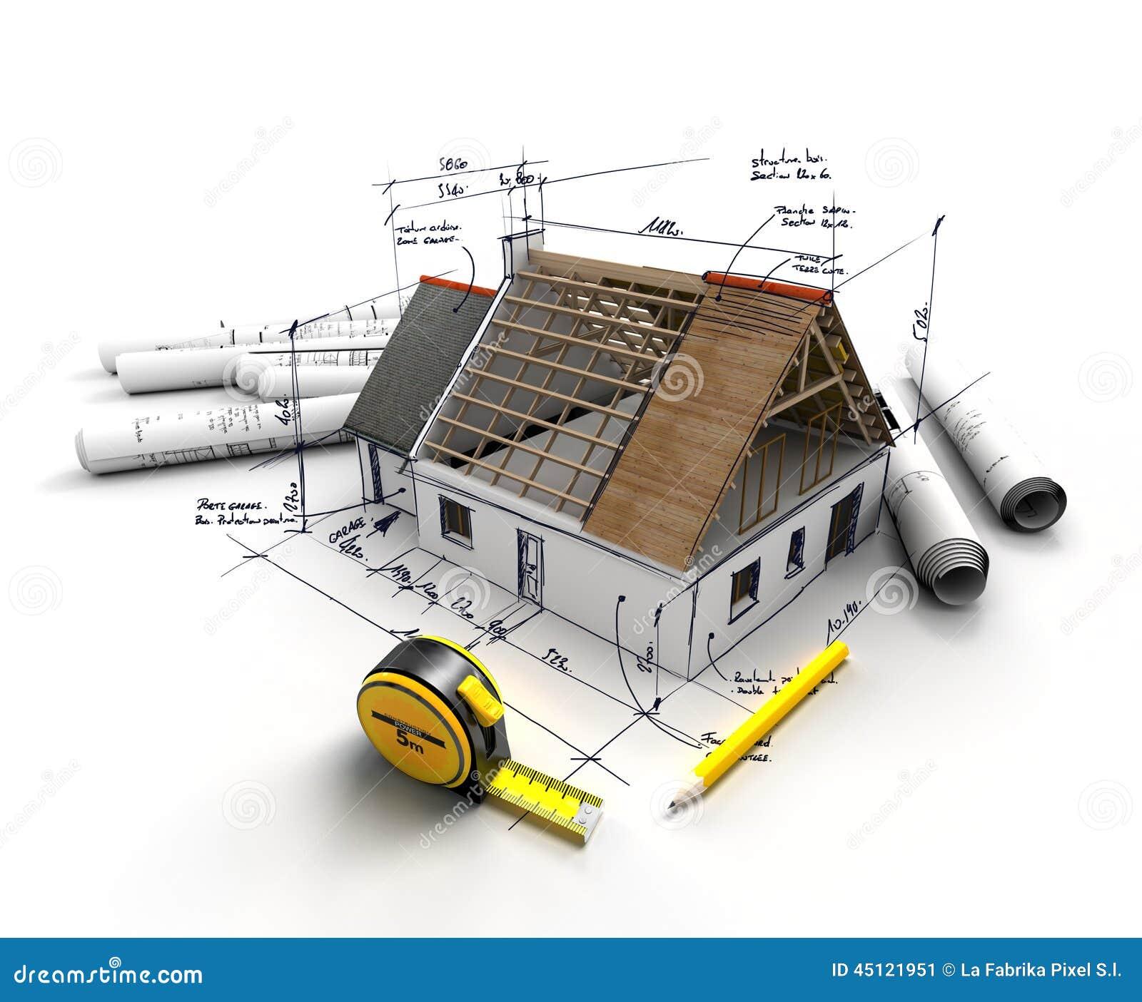 Home construction project stock illustration illustration for Proyecto construccion de aulas escolares