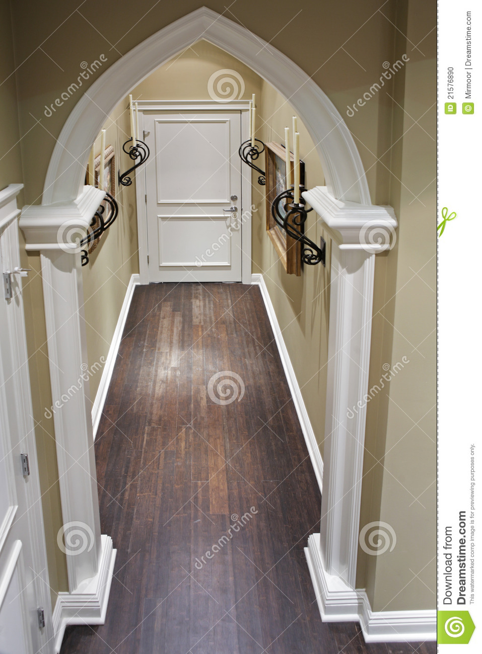 Home corridor with decorative metal details stock photo image 21576890 - Decoratie corridor ...