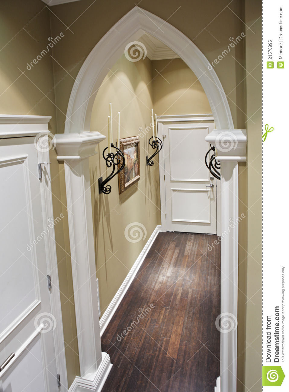 Home corridor with decorative metal details royalty free stock photo image 21576895 - Decoratie corridor ...