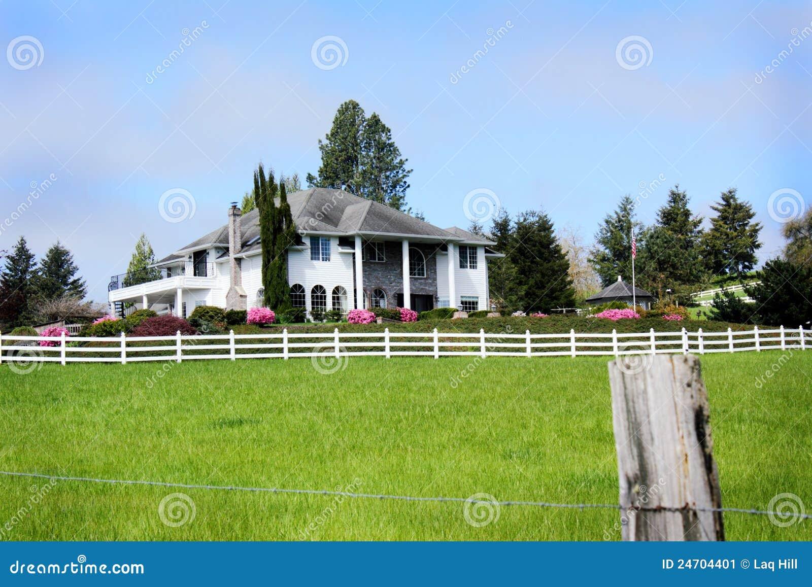 HOME da exploração agrícola do país do cavalheiro