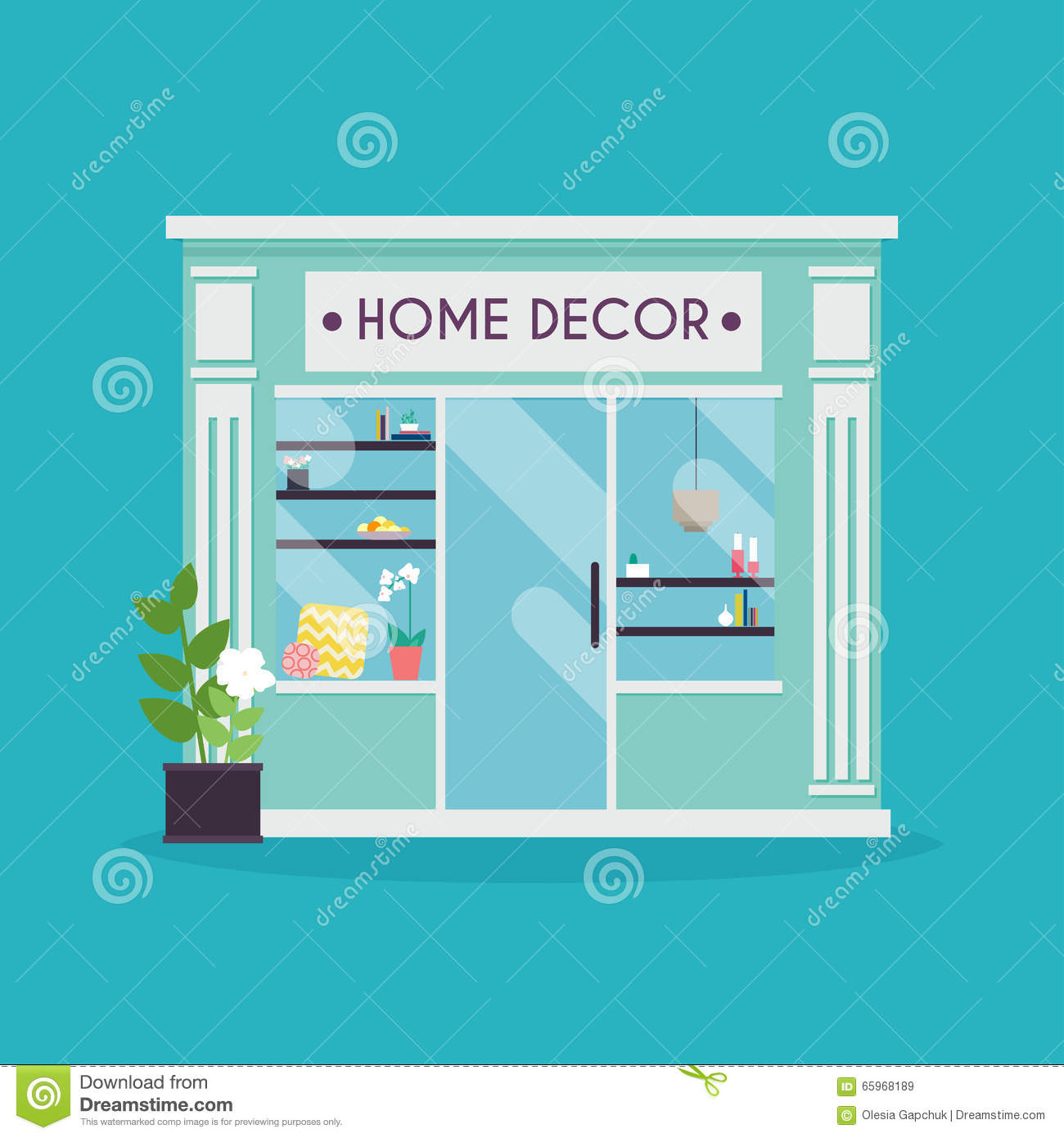 Home Decor Facade. Decor Shop. Ideal For Market Business