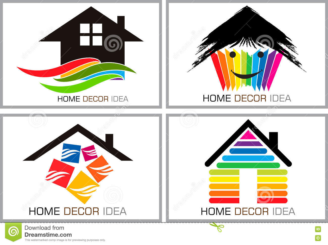 Home decor idea logos stock vector. Illustration of icon ...