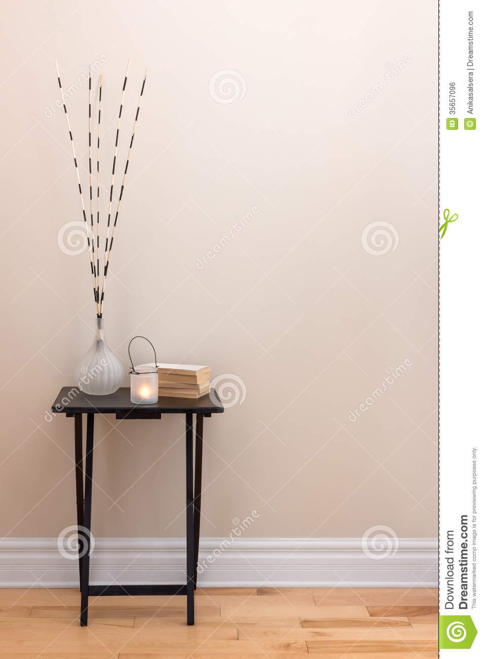 Home Decor Little Table With Decorations Stock Photo Image Of