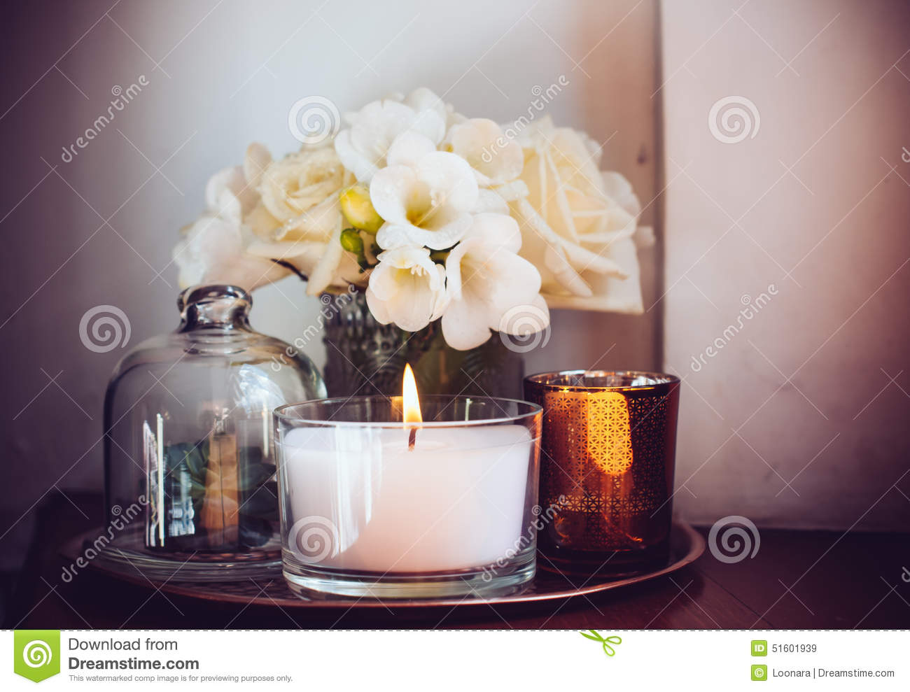 Home Decor On A Table Stock Photo Image 51601939