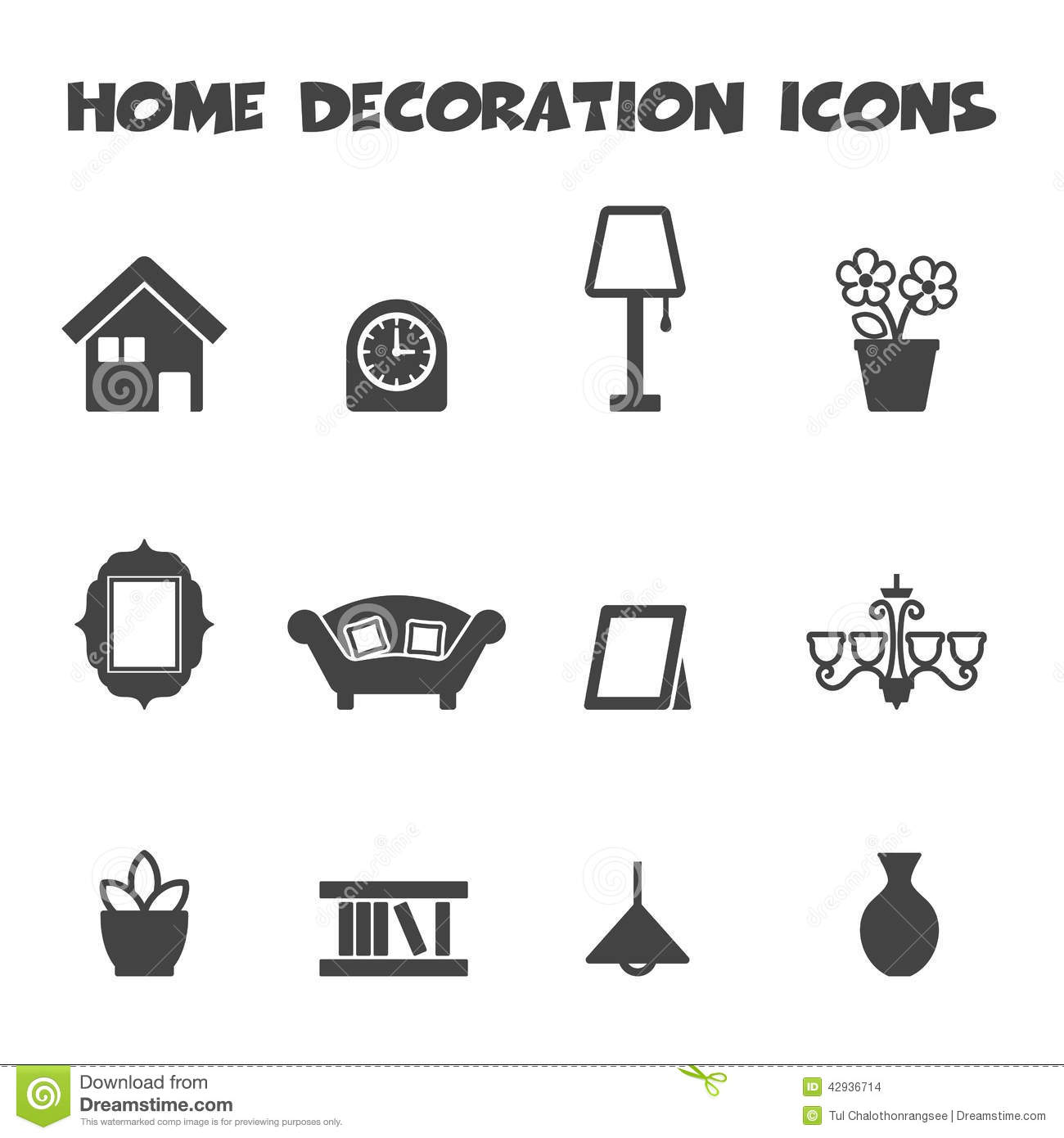 Home Decoration Icons Stock Vector Illustration Of Isolated 42936714
