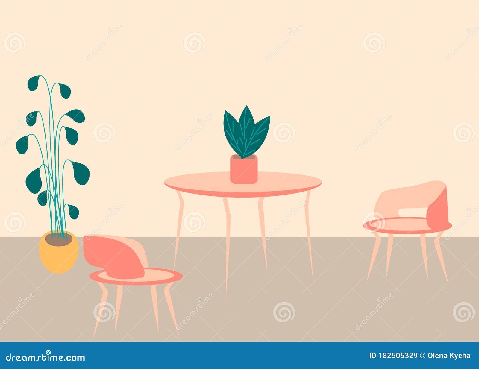 Home Decorations Flora Decor. Flat Design Style Vector ...