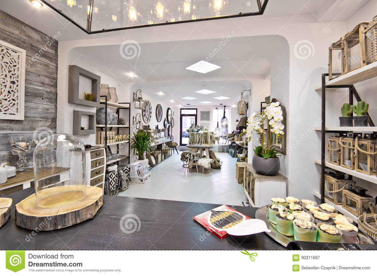 Home Decorations Shop Interior Stock Image Image Of Decoration Interior 90311697