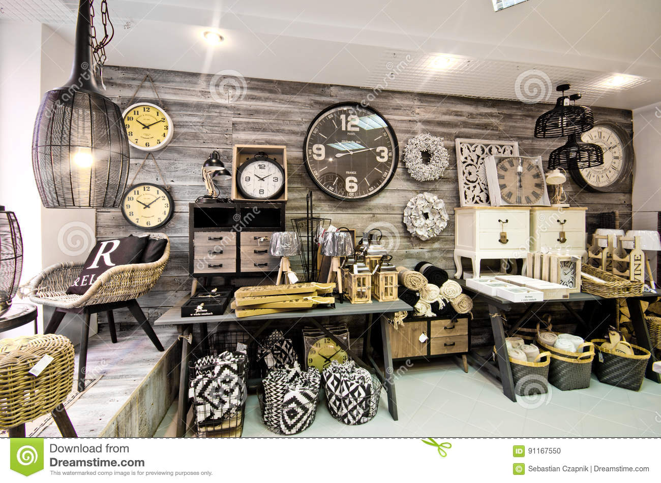 Home Decorations Shop Interior Stock Photo Image 91167550