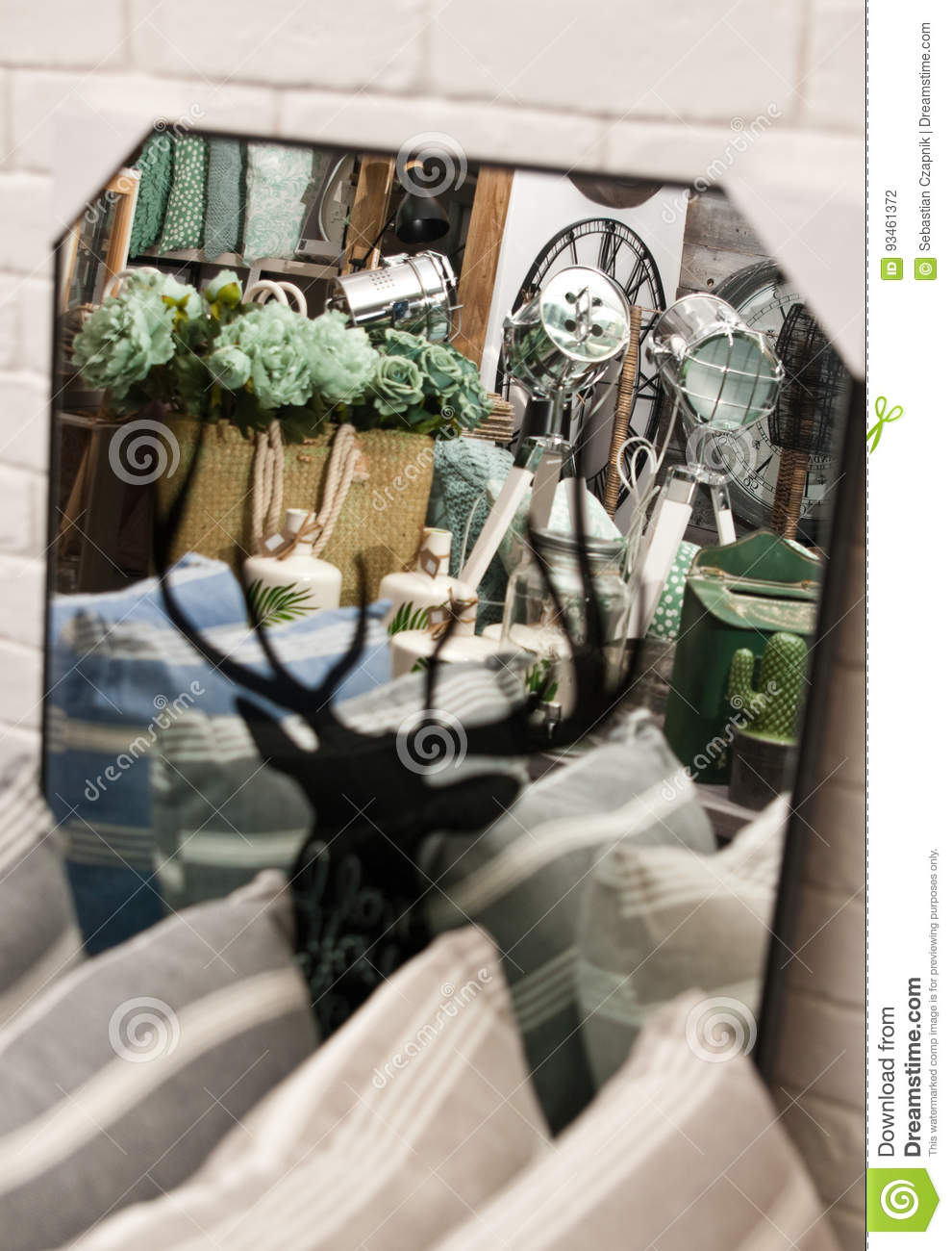 Home decorations shop interior stock photo image of - Home interior deer pictures for sale ...