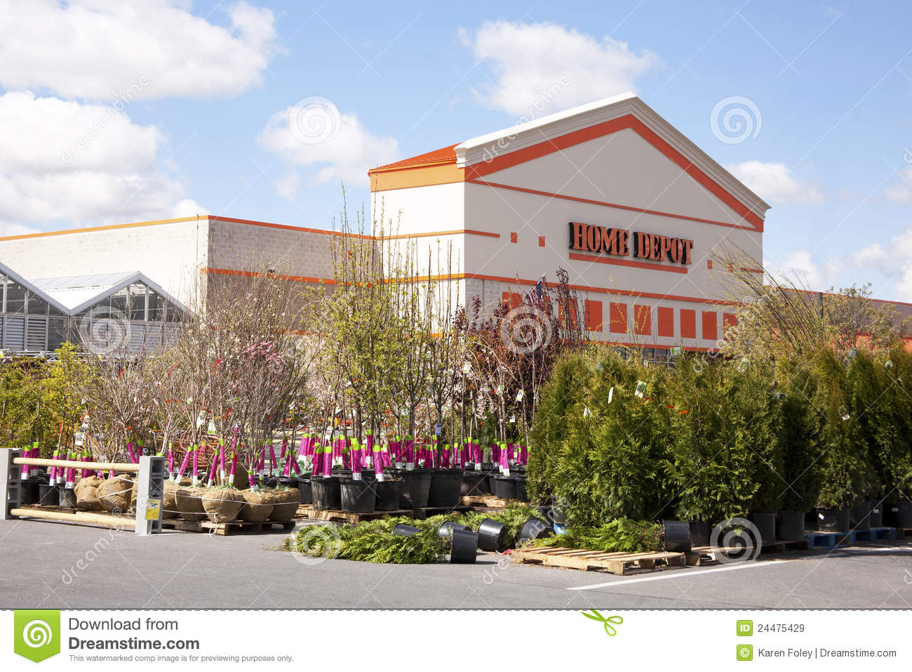 Home Depot Garden Center Editorial Stock Image Image Of