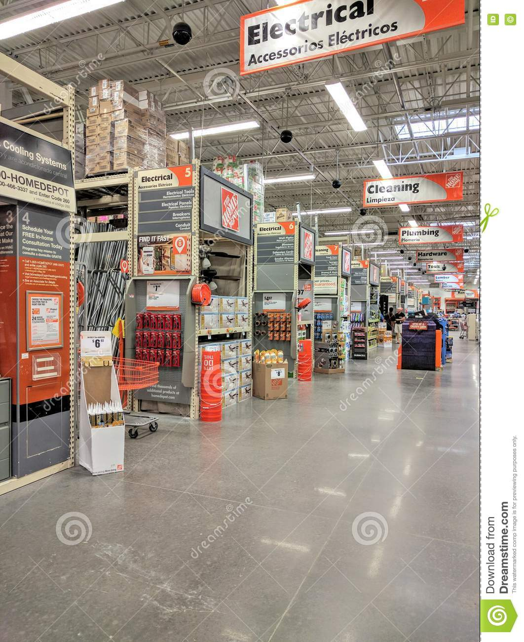 Home Depot Store Stock Photos