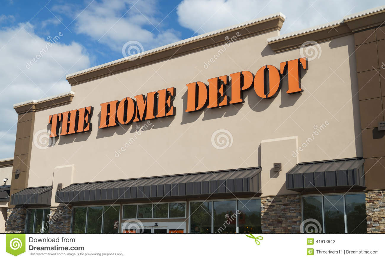 Home depot store editorial photography image 41913642 for Shop home depot