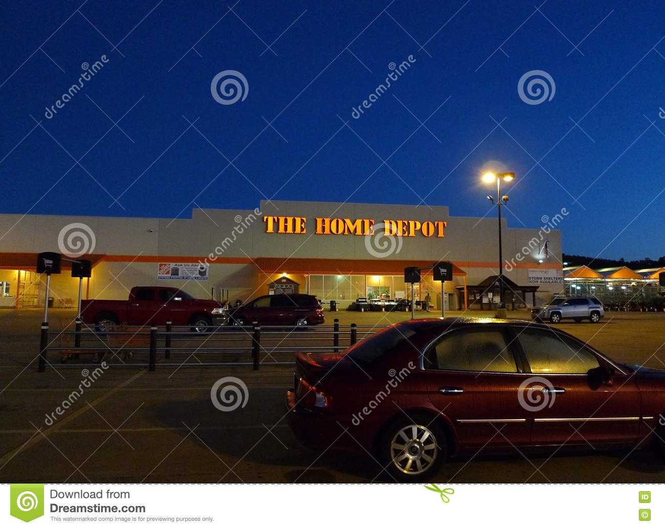 superior Fort Smith Home Depot Part - 2: The Home Depot store at sunrise or sunset