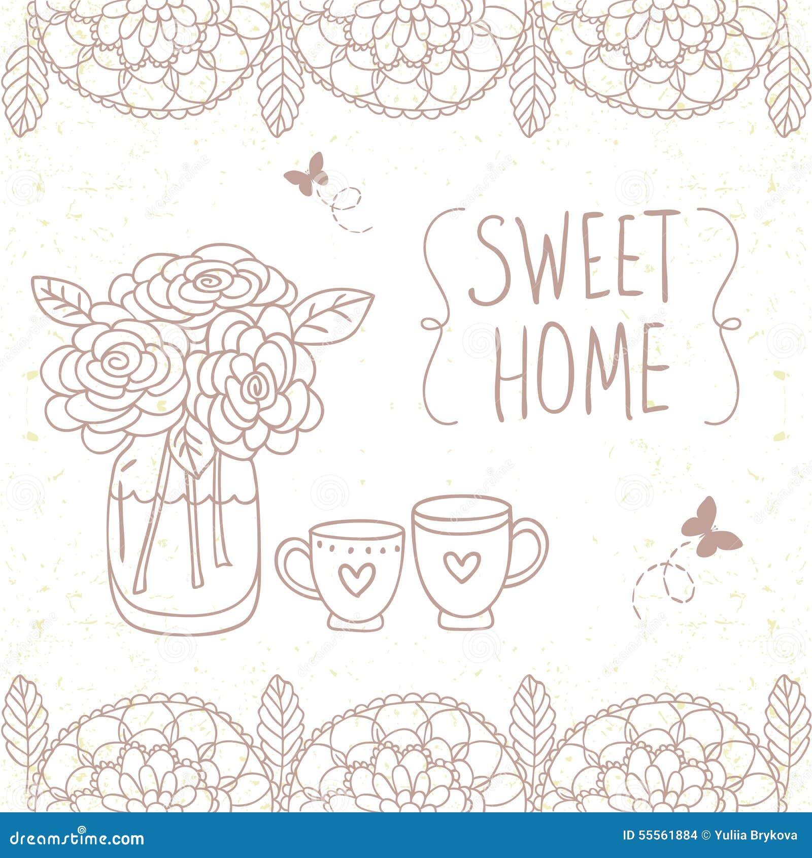 Home Design Stock Vector Image 55561884