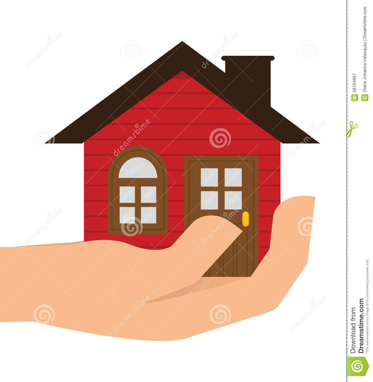 Home design stock vector image 58704987 for Digital house design