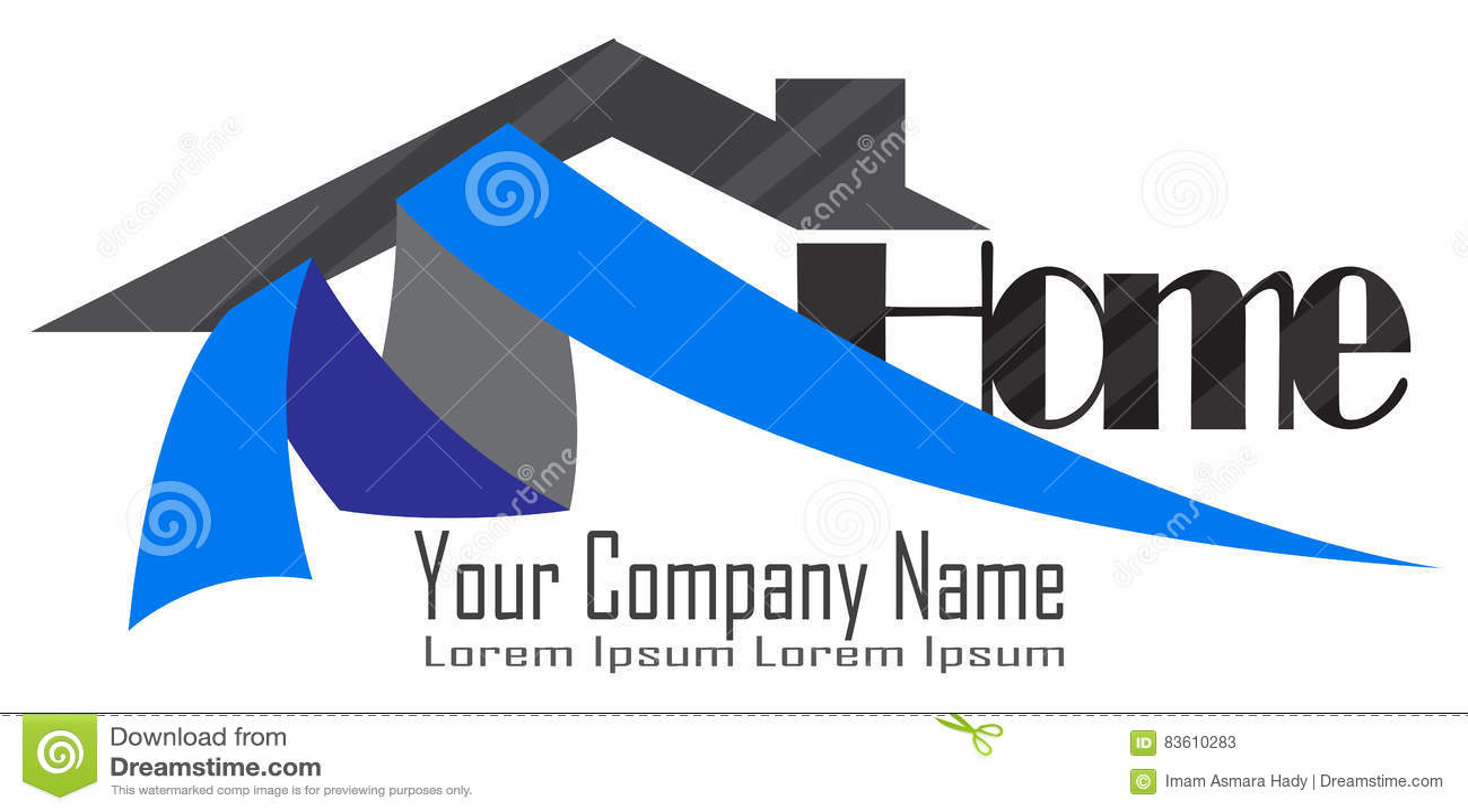 home developers logo stock vector illustration of template 83610283
