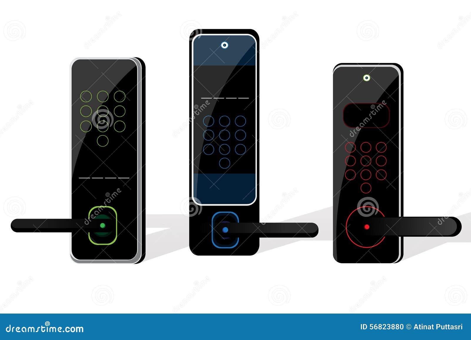 home electric door lock stock vector image 56823880 design door electric home lock