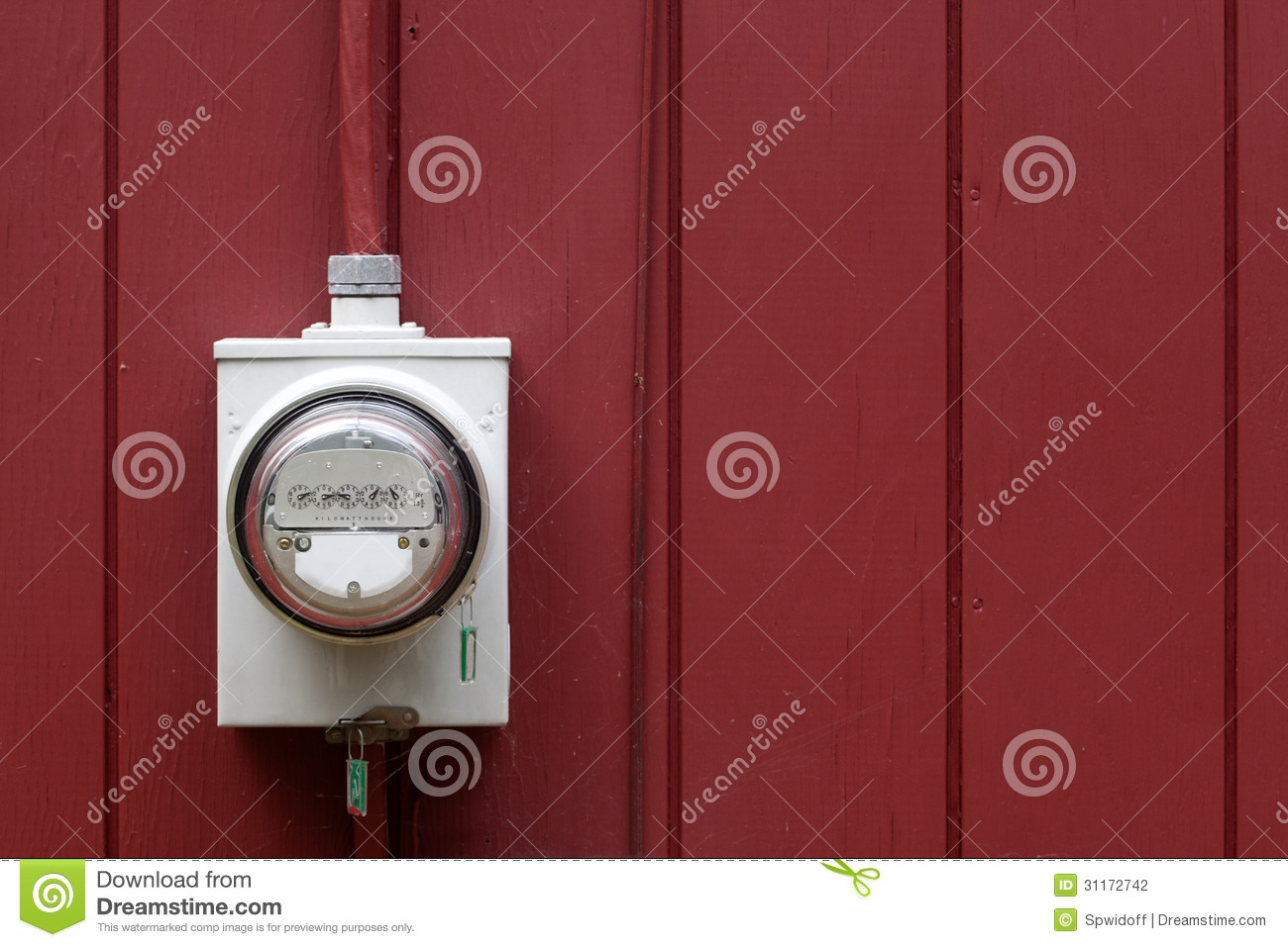 Home Power Meter : Home electric meter stock photography image