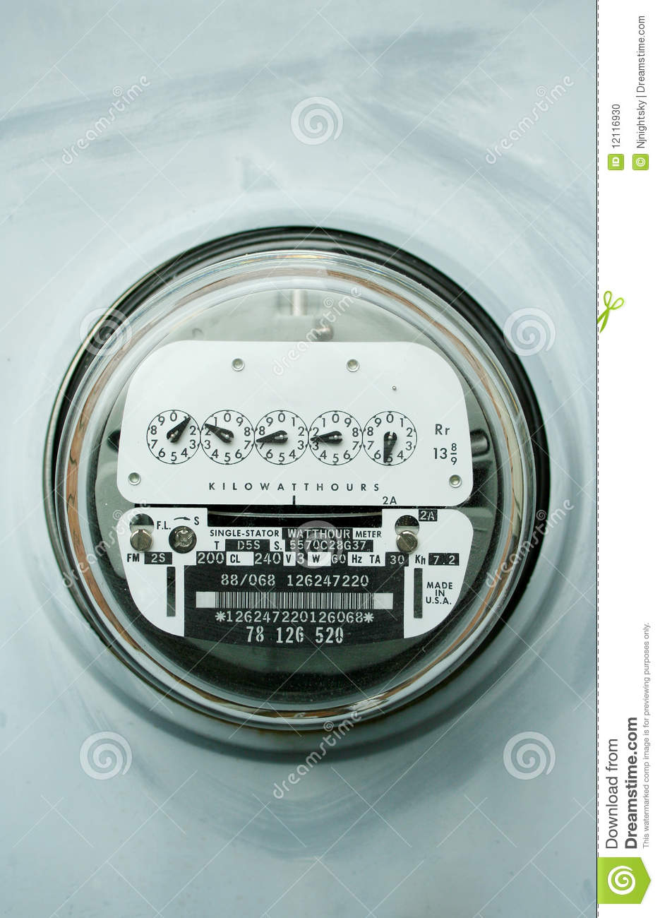 Electric Meter On House : Home electric power meter stock photo image