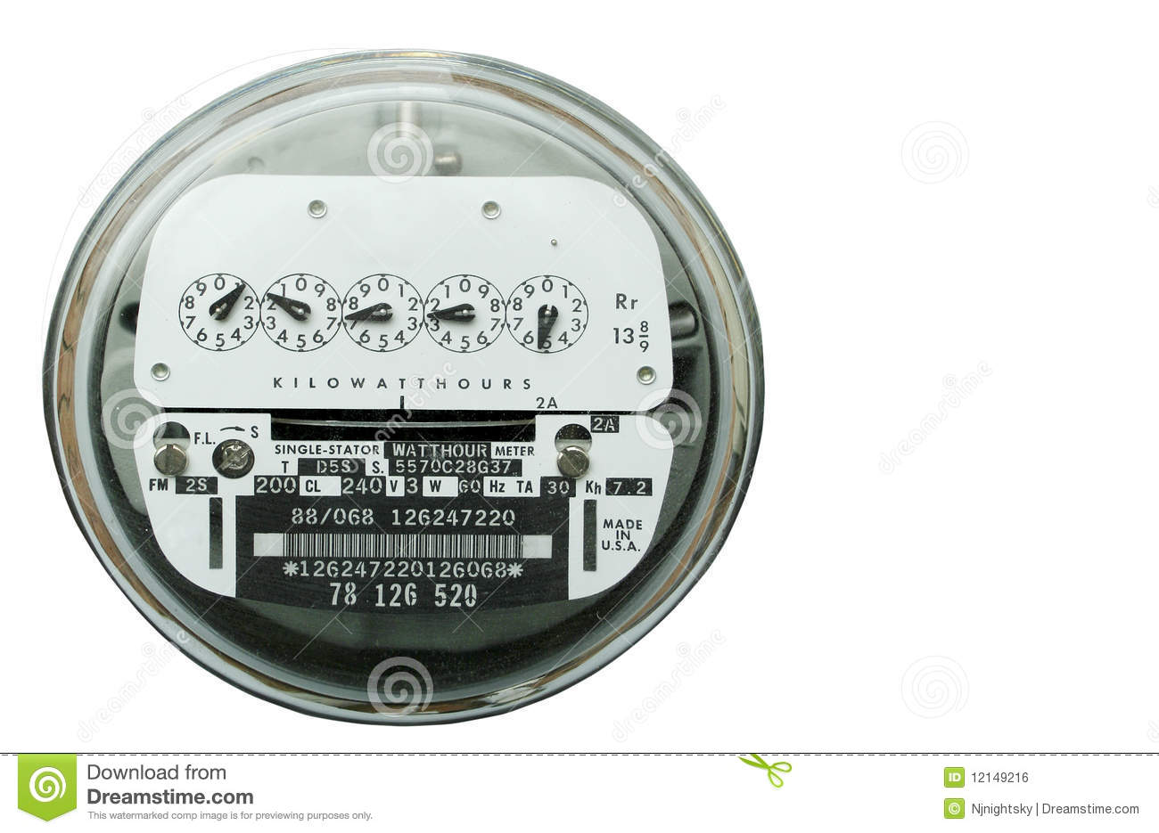 Home Power Meter : Home electric power meter stock photo image of monitor