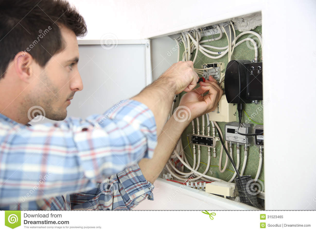 Home Electrical Problems For Electrician Stock Image Of Wiring