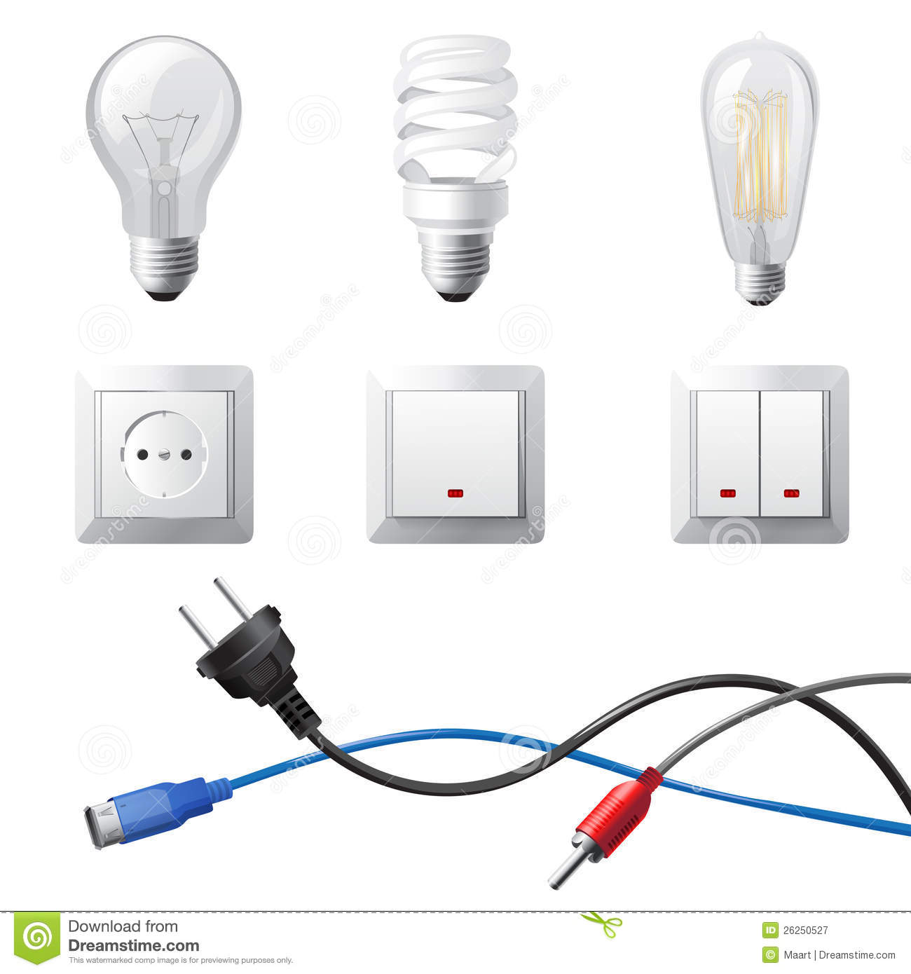 Home Electricity Royalty Free Stock Photography - Image: 26250527
