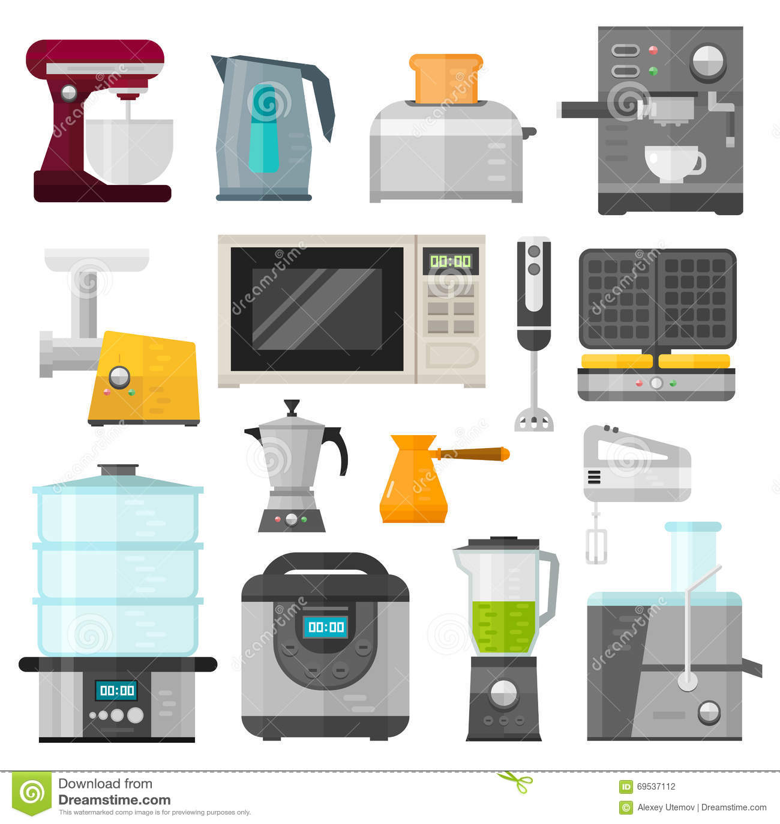 Home Electronics Appliances Elements Infographics Template