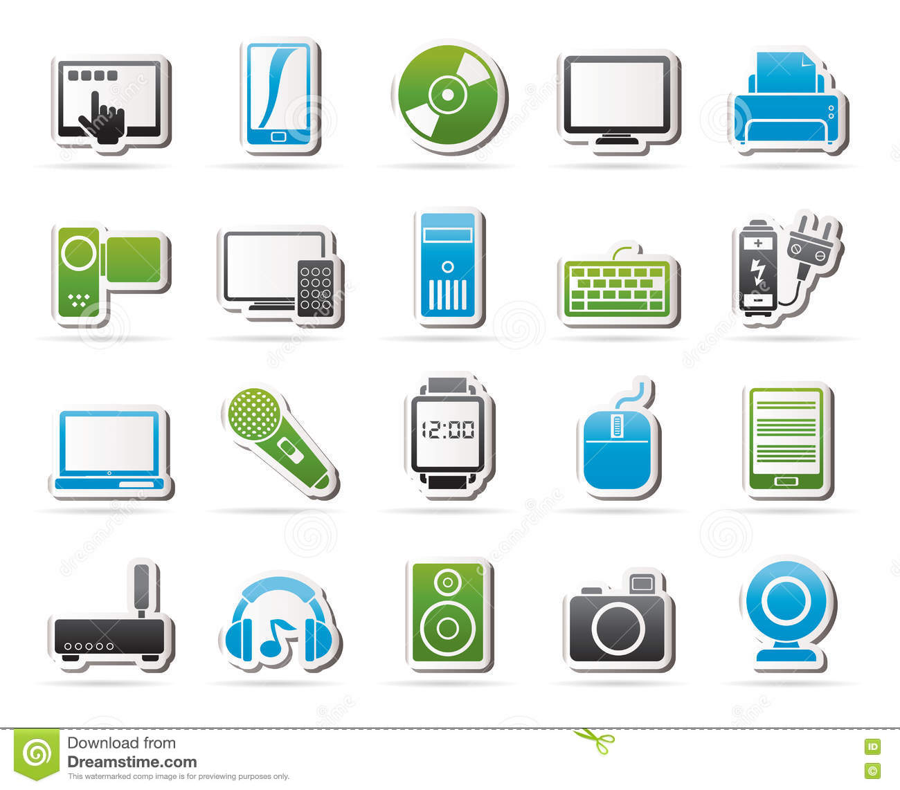 Home Electronics And Personal Multimedia Devices Icons
