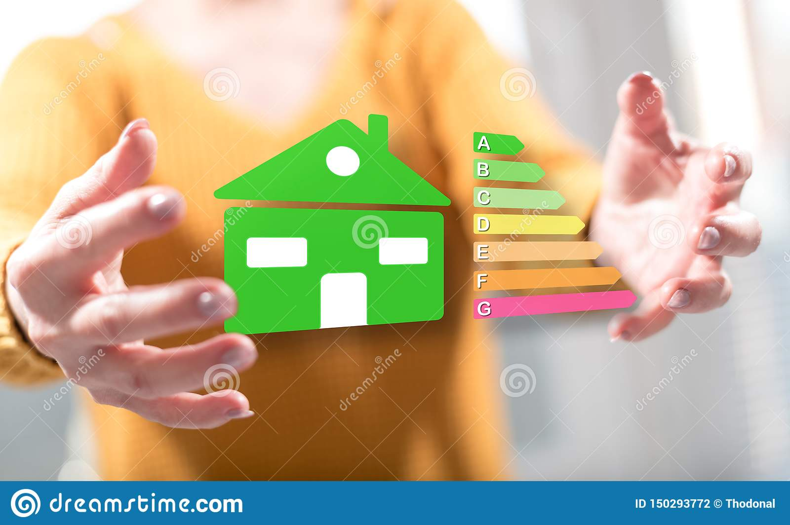 Concept of home energy efficiency