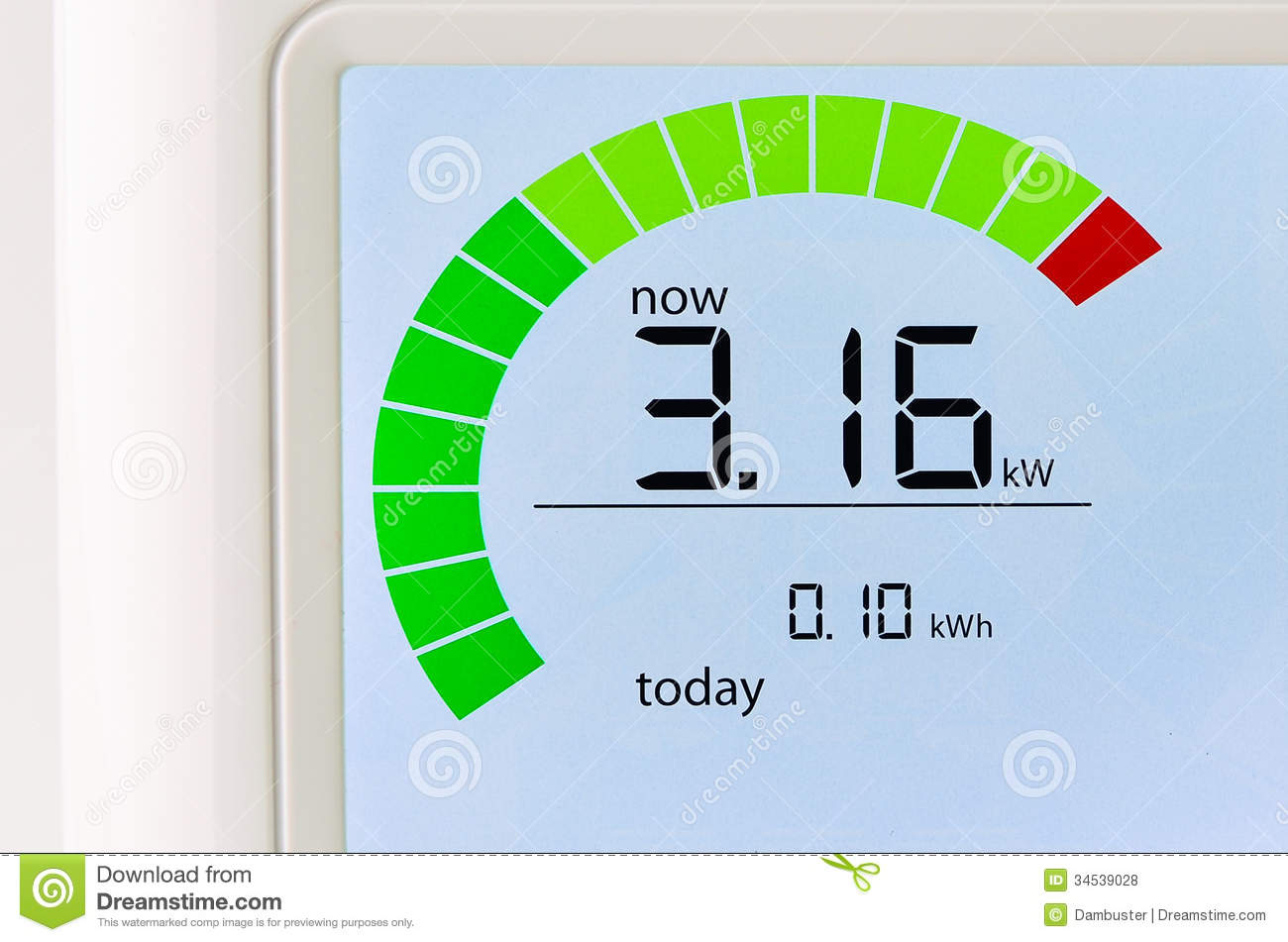 Household Energy Meter : Home energy usage meter royalty free stock photos image