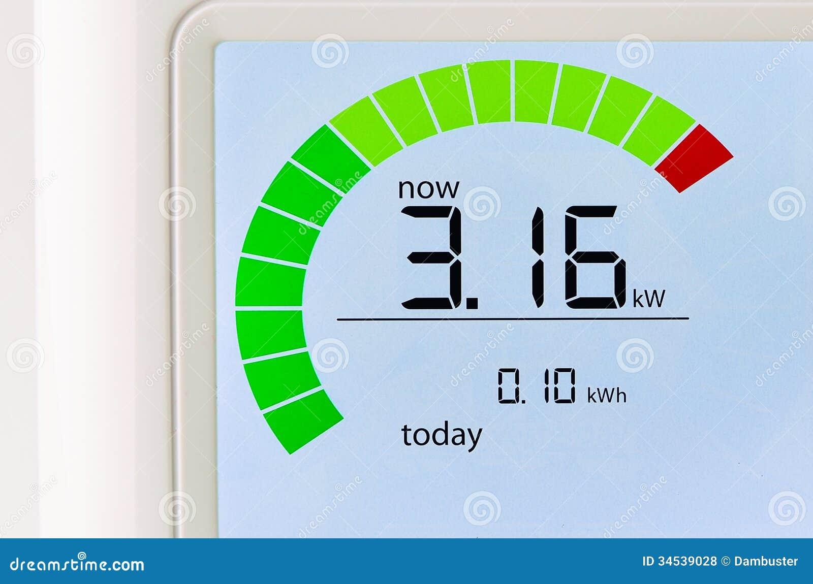 Increasing Electricity Meter : Home energy usage meter royalty free stock photos image