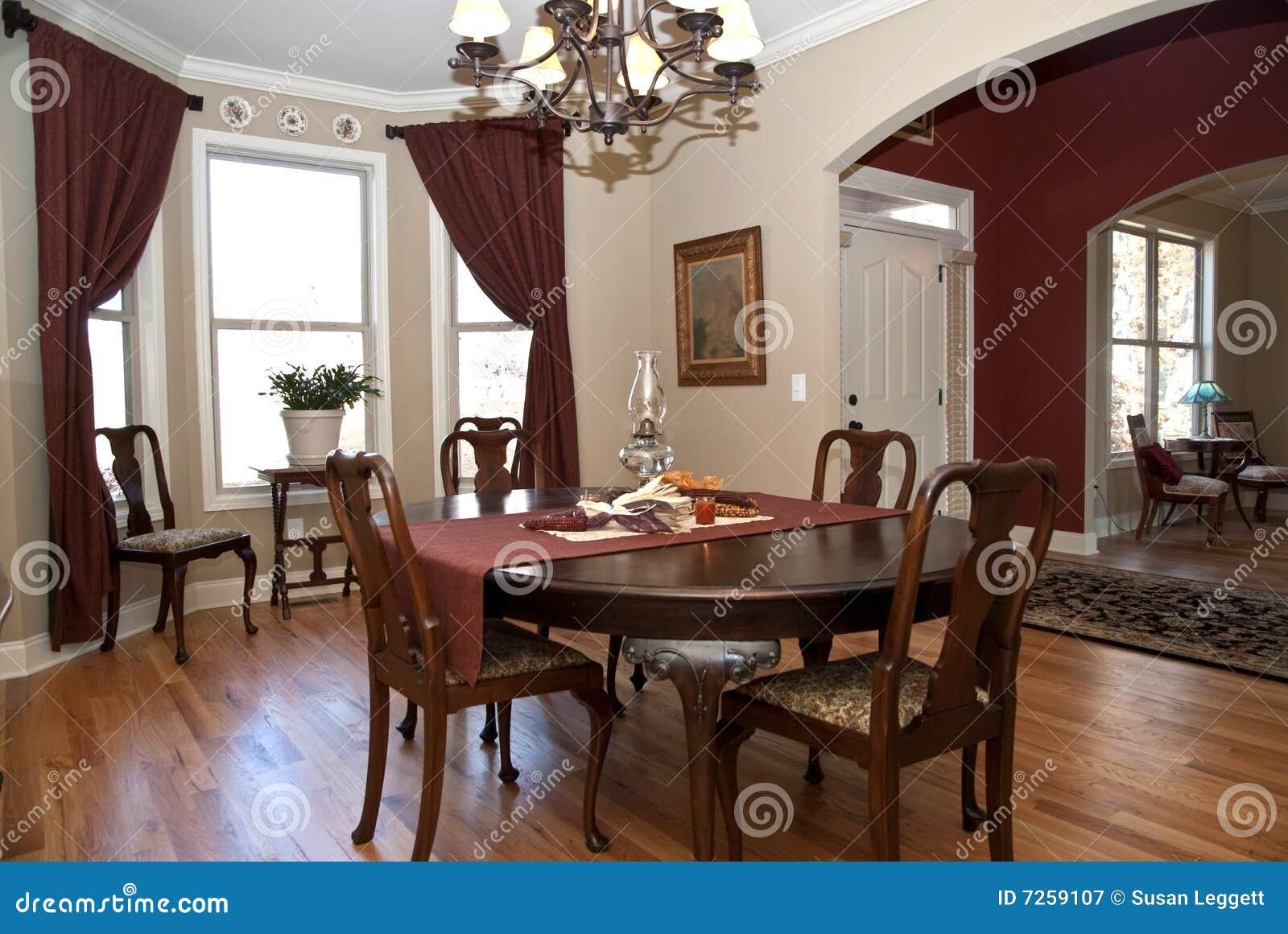 Home entrada sala de jantar modernas imagem de stock for Arredamento sala moderna
