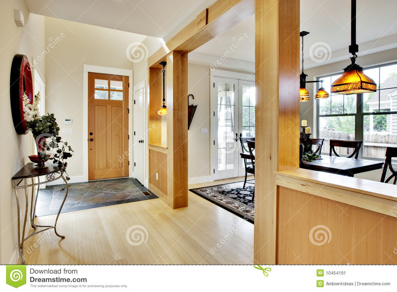 Home entrance hallway stock image image of residential for Bar interieur maison