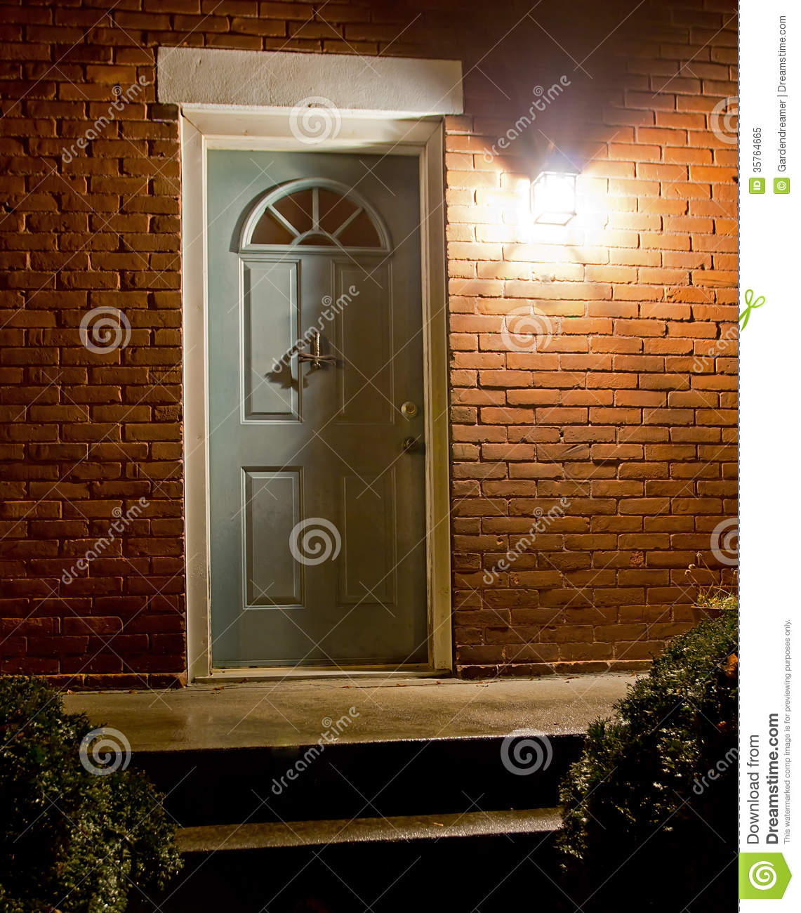 Home Entrance At Night Royalty Free Stock Photo Image