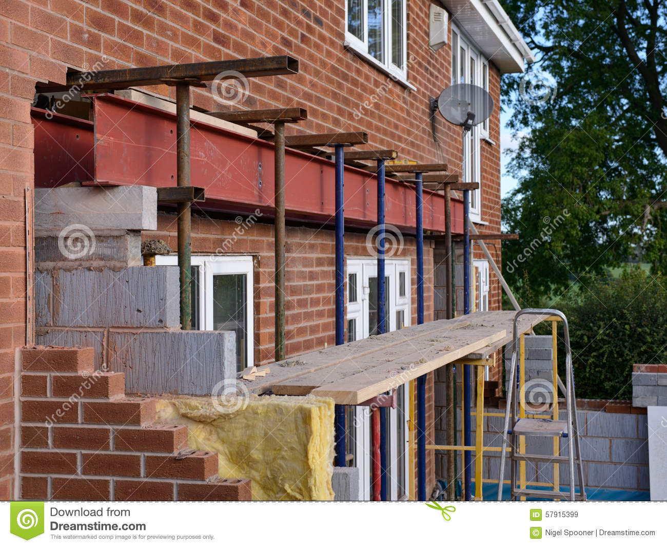 Home Extension Under Construction Stock Image Image Of