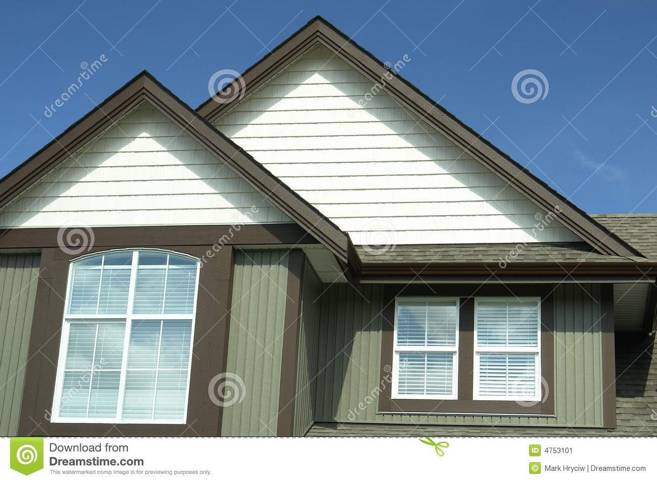 Home Exterior House Canada Bc Stock Image Image 4753101