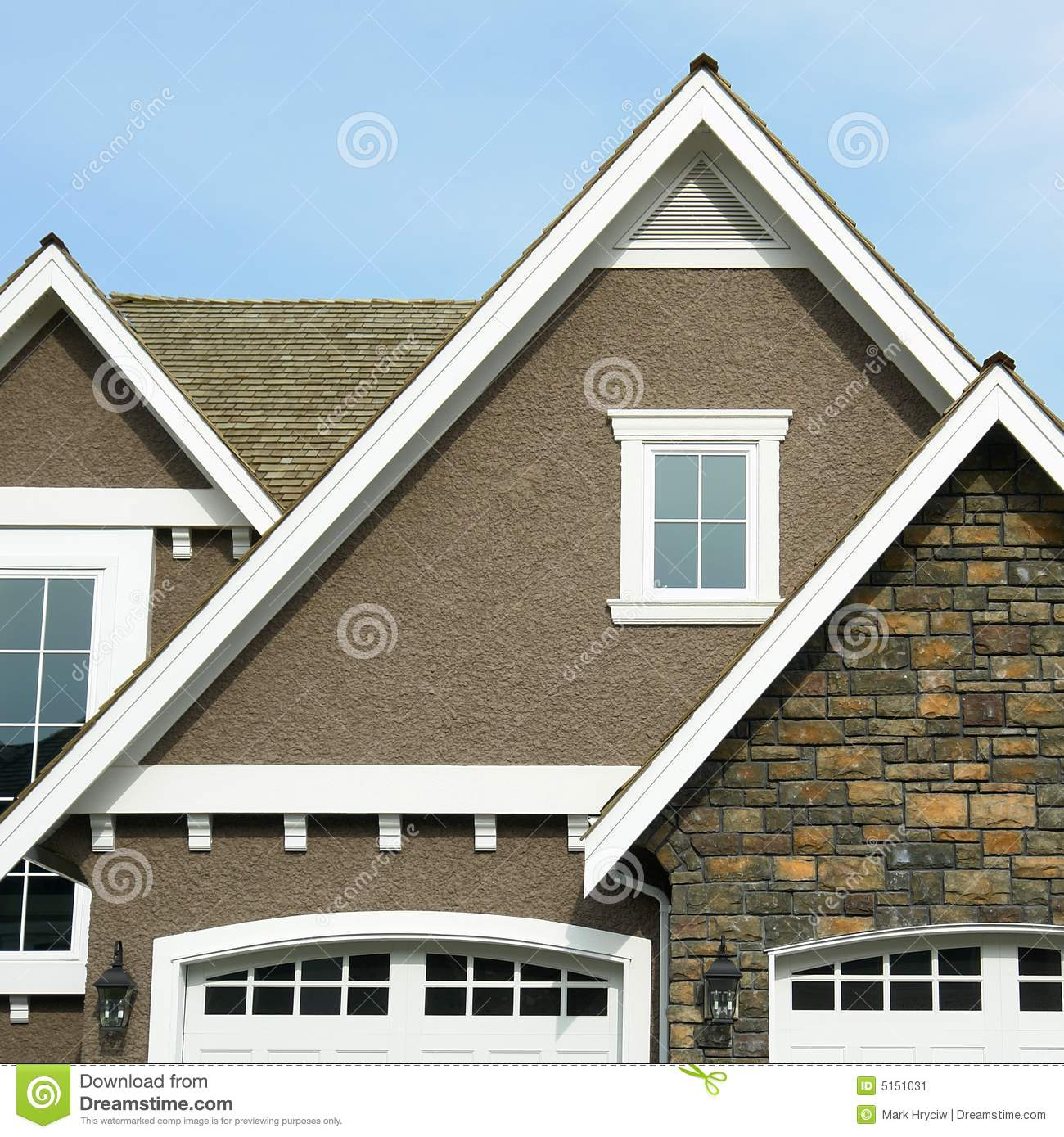 Stock Image Home Exterior House Roof Peak Image5151031 on Stucco Home Plans And Designs