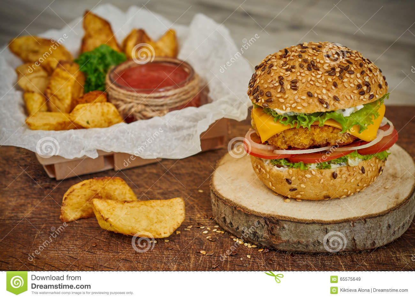 A HOME fêz o hamburguer