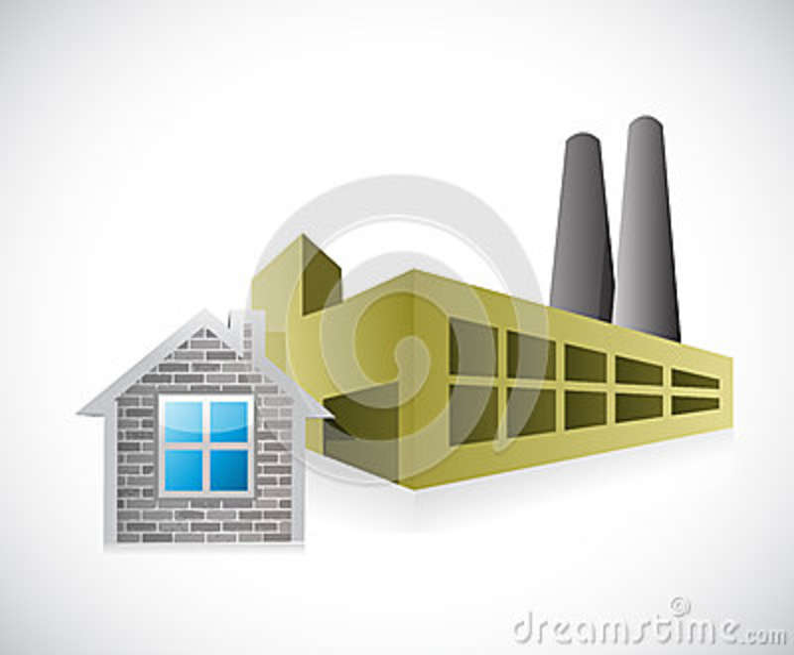 Home factory illustration design