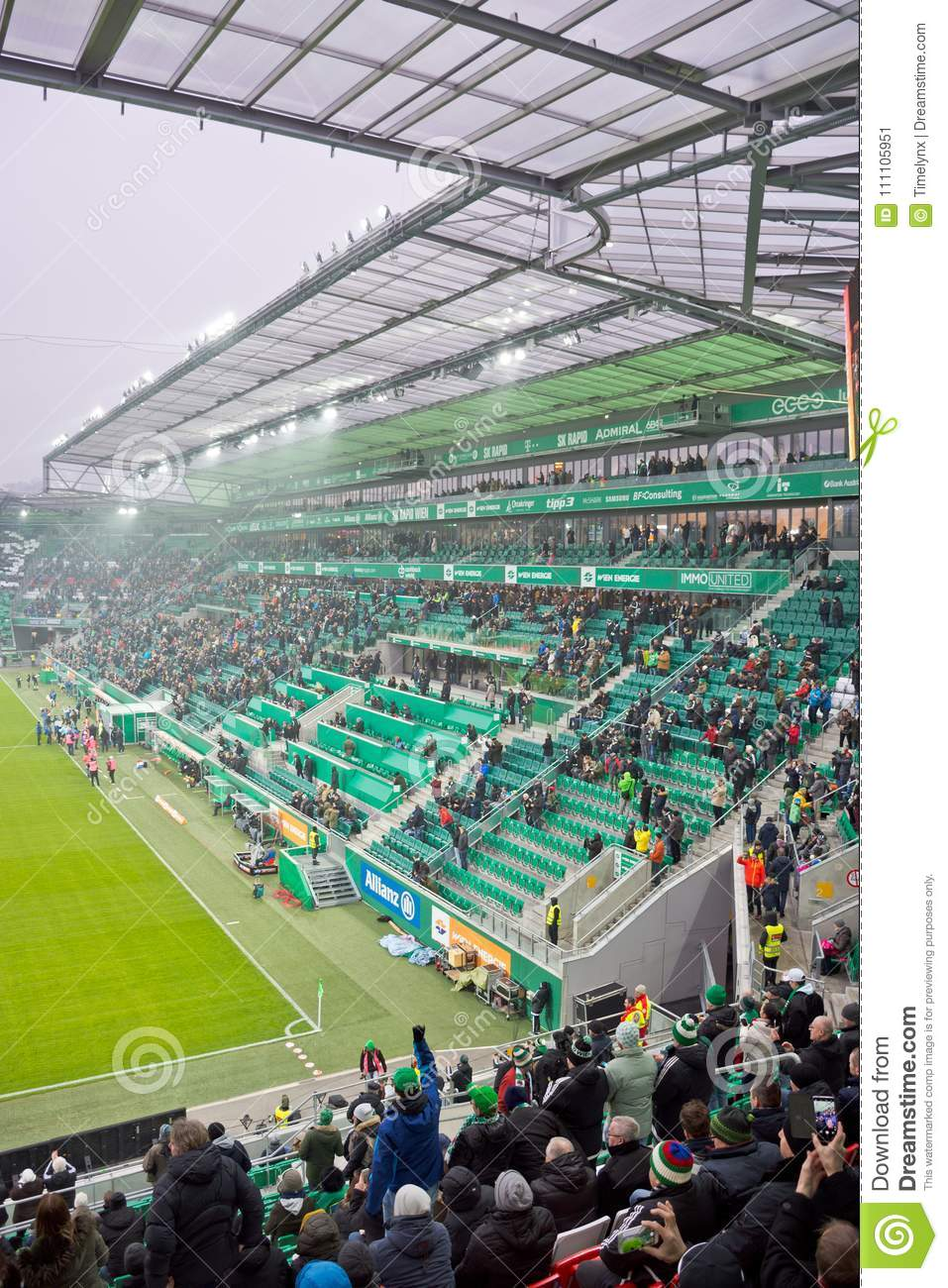 Allianz Stadion In Vienna Editorial Photo Image Of Lighting 111105951