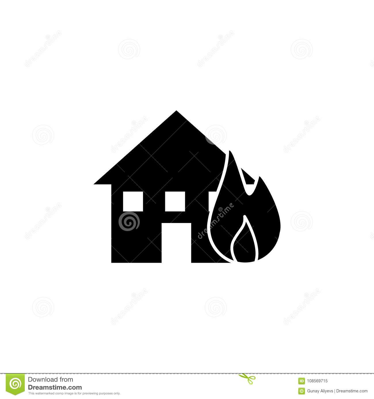 Fire Element Symbol Outline Wiring Diagrams Dilznoofus39s Tessellation Book Home Icon Elements Of Natural Disasters Premium Quality Rh Dreamstime Com Air