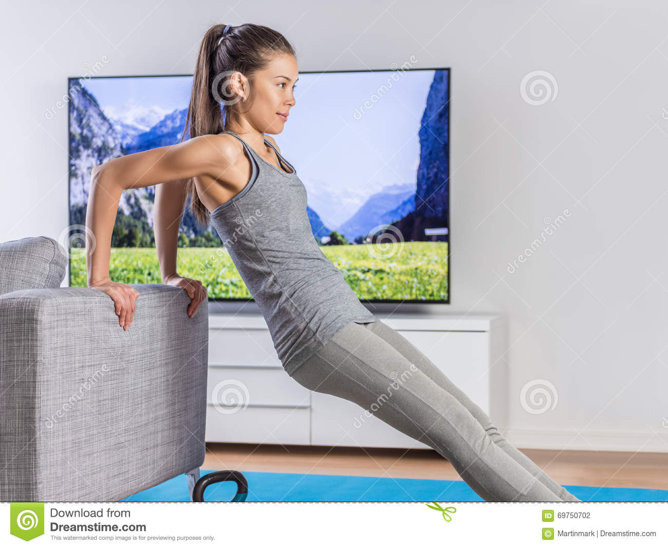 Living room fitness training living room Living room gym