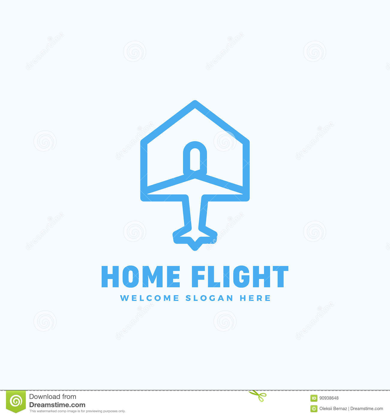 Home Plane | Home Flight Abstract Vector Sign Emblem Or Logo Template Plane And