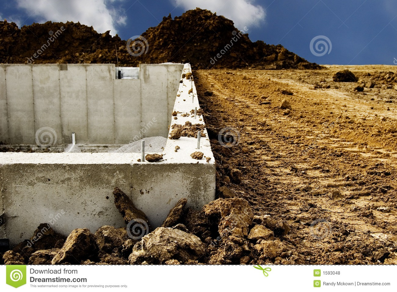 Home Foundation Construction Royalty Free Stock Photos
