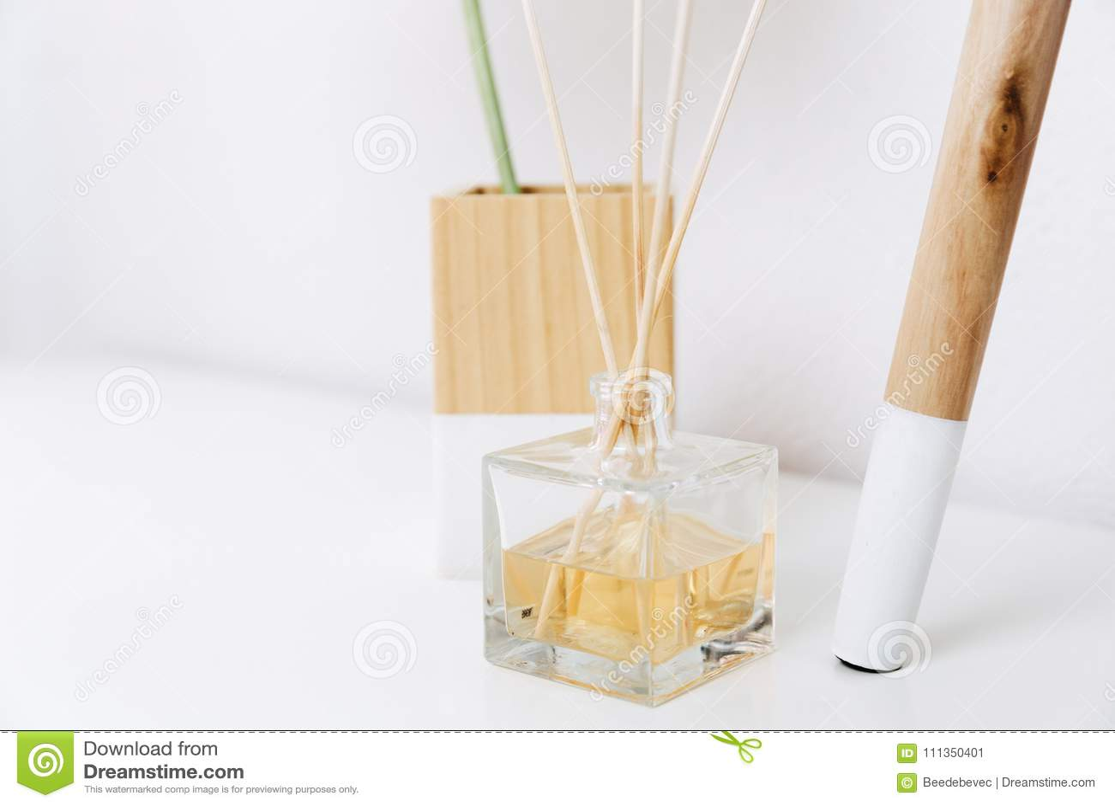 Home fragrance. Minimal decor living room