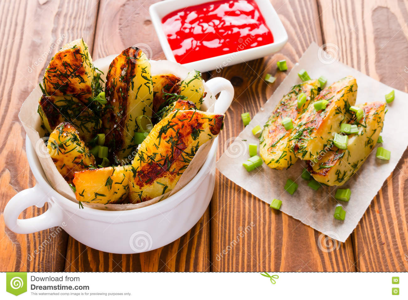 Home fried potatoes with green onions