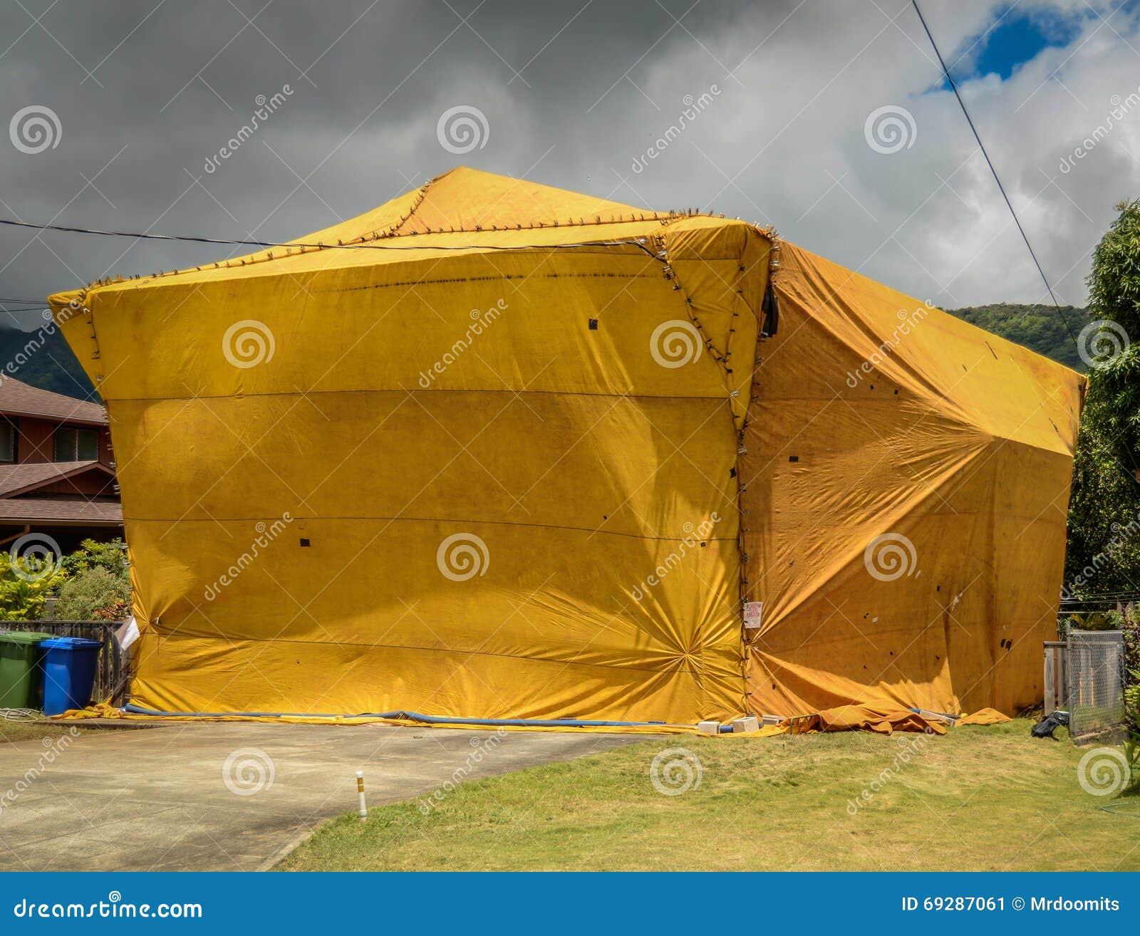 Home Fumigation Pest Control Tent & Home Fumigation Pest Control Tent Stock Photo 69287061 - Megapixl