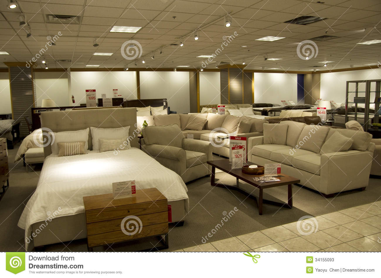 Home furniture department store stock photos image 34155093 Home furniture and mattress